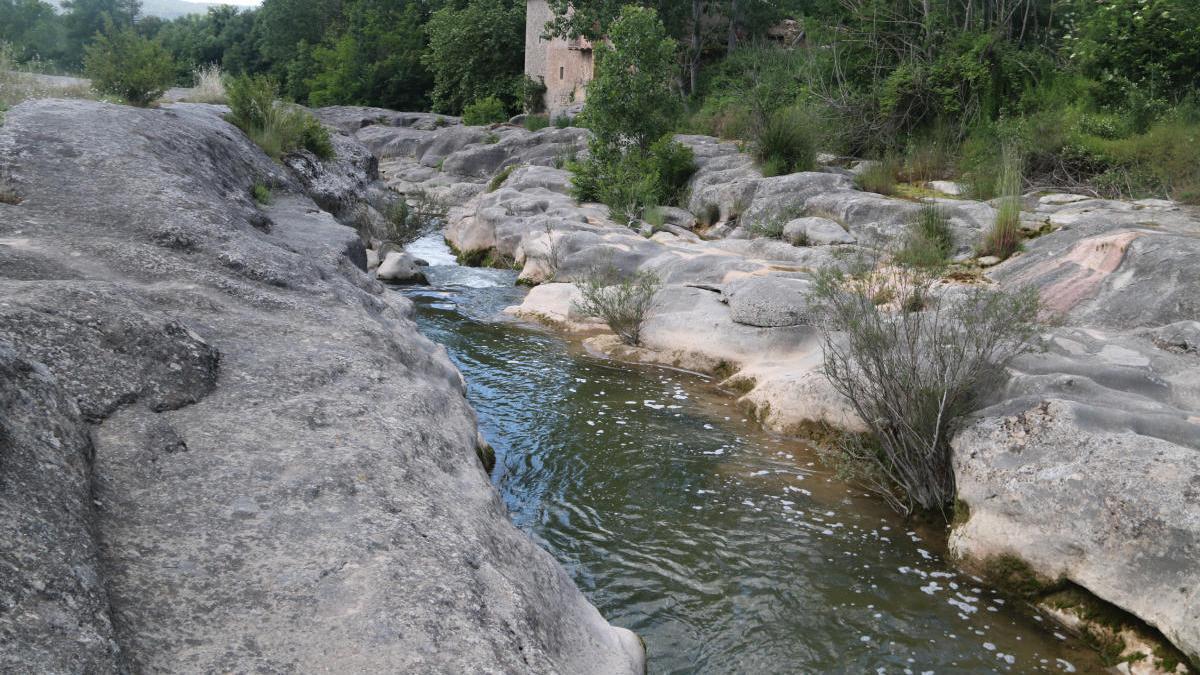 La riera de Merlès, al Berguedà