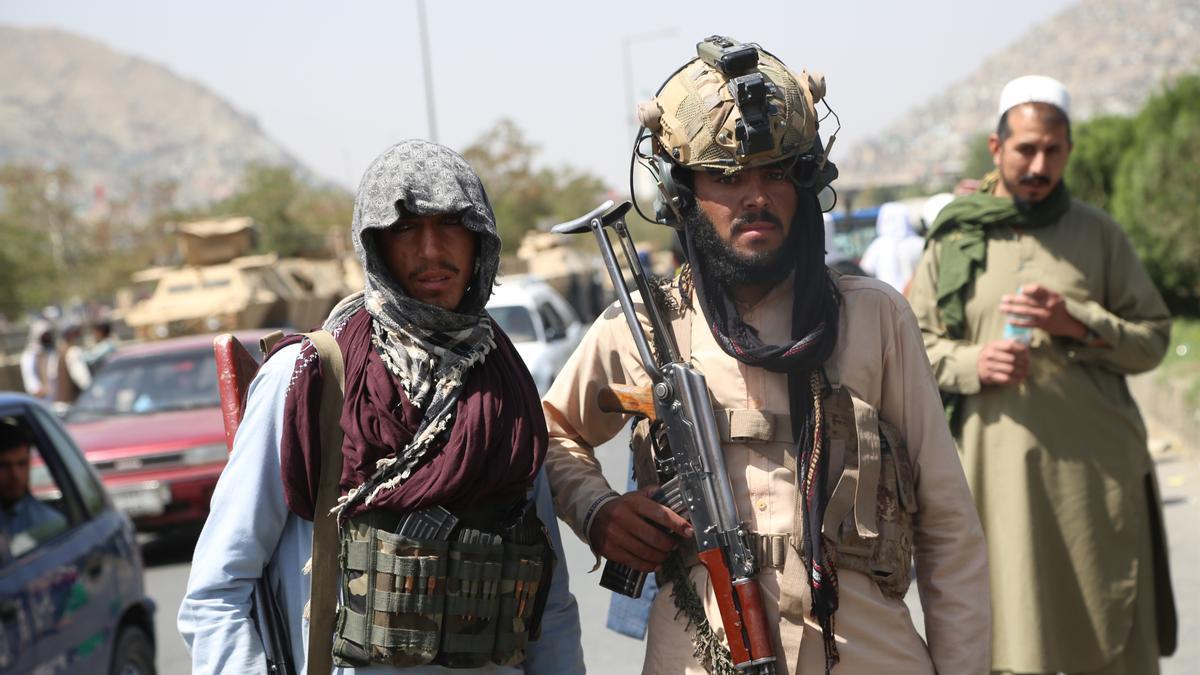 Milicianos talibanes en Kabul.
