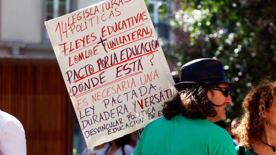 Las imágenes de la manifestación por la educación del 4 de marzo