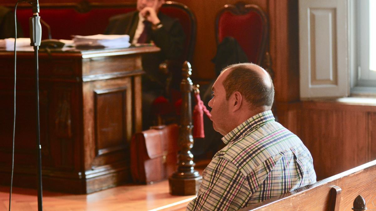 Ángel Martínez Pérez, 'Lito', durante el juicio.