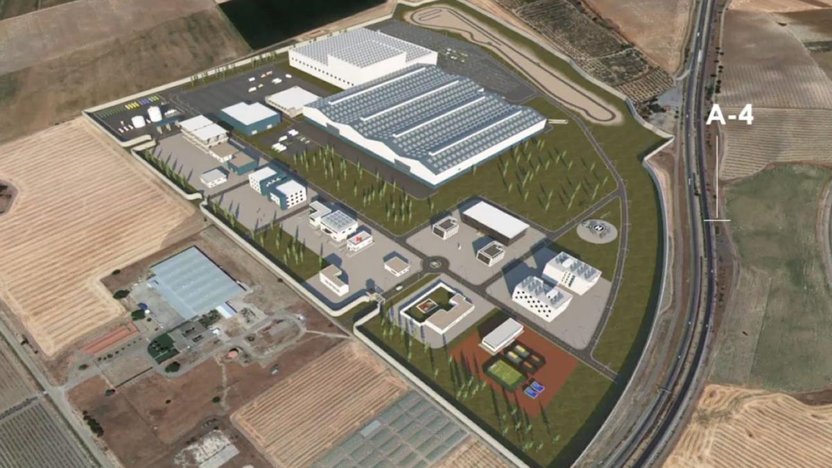 Una vista del proyecto del ET sobre la Base Logística en La Rinconada, junto a la A-4.