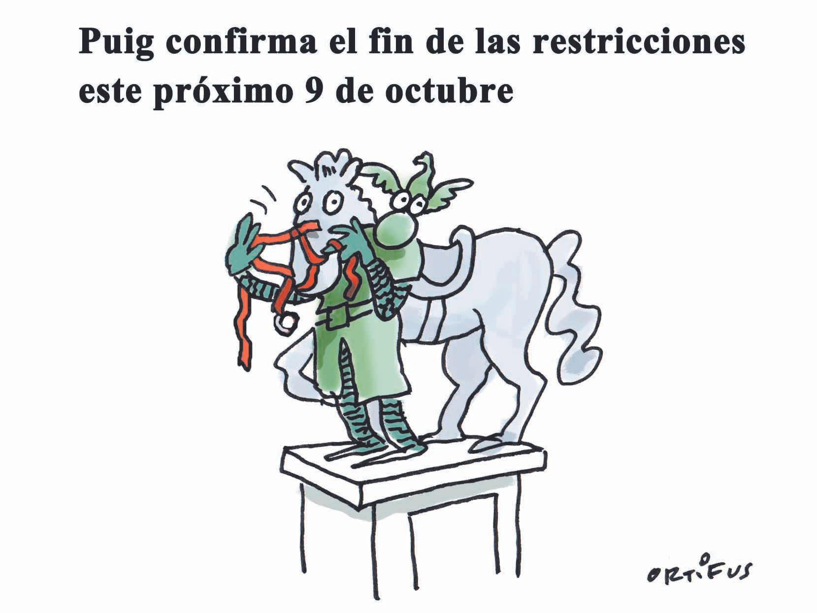 Puig confirma el fin de las restricciones este próximo 9 d'Octubre
