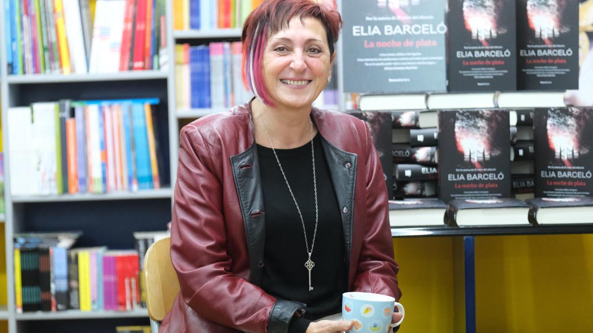 La escritora Elia Barceló, el año pasado en Elda, su ciudad natal.