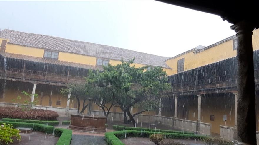 Fuertes lluvias en La Laguna