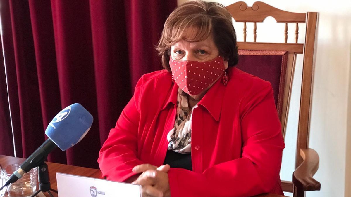 La alcaldesa de San Juan de la Rambla, Fidela Velázquez.