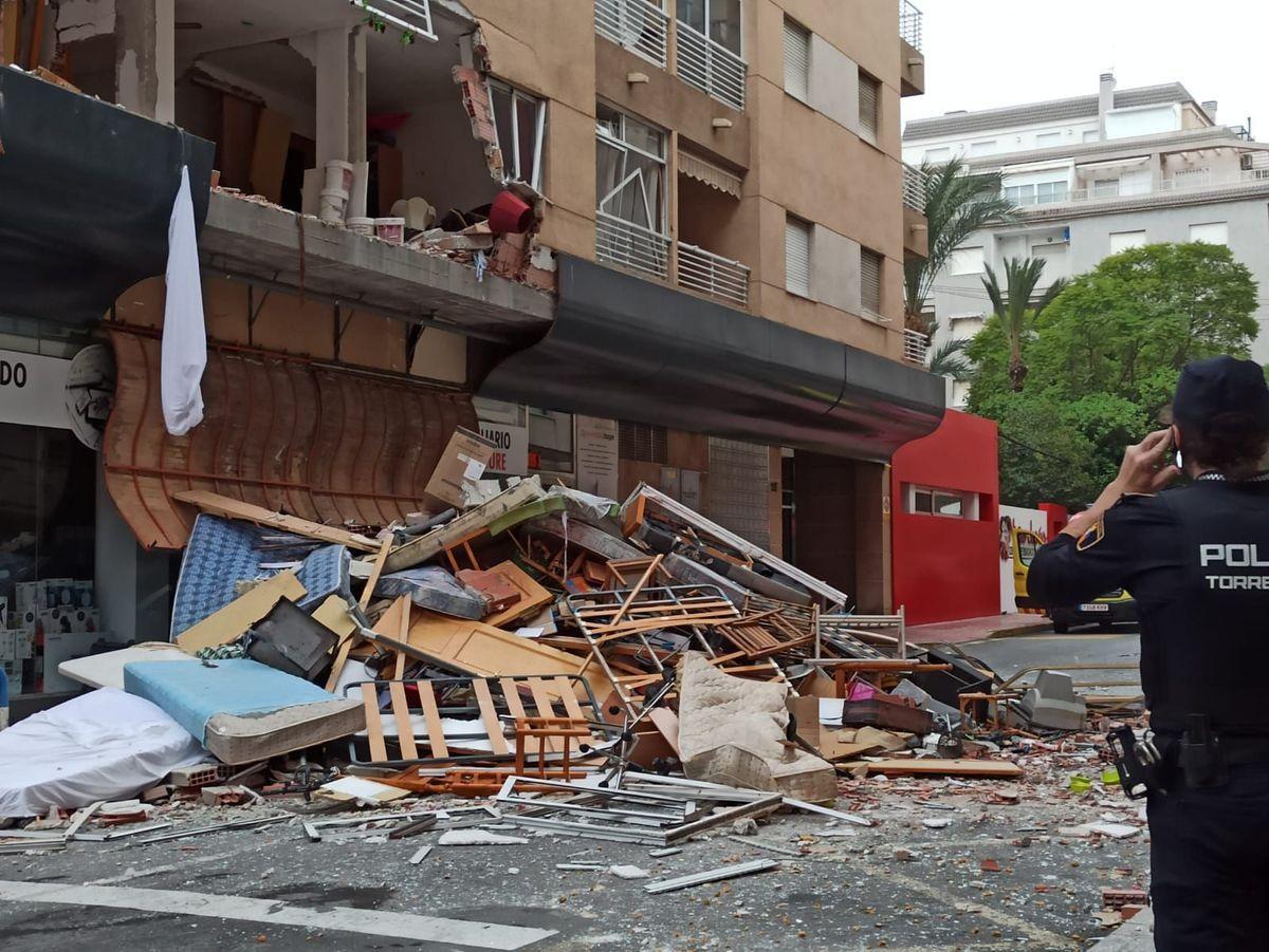 Explosión de gas en un edificio de Torrevieja