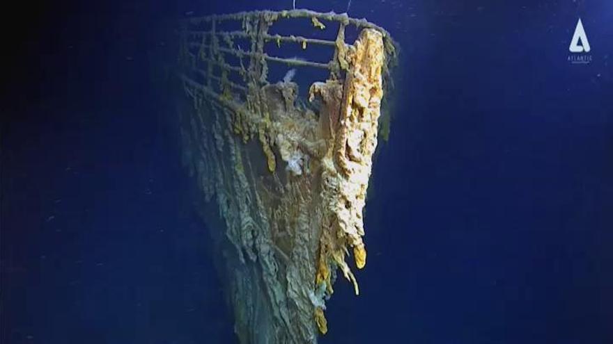 Filman los restos del Titanic por primera vez en 14 años