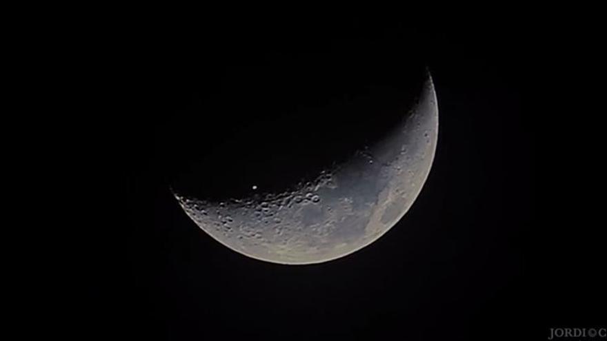El tránsito de la Estación Espacial sobre la Luna
