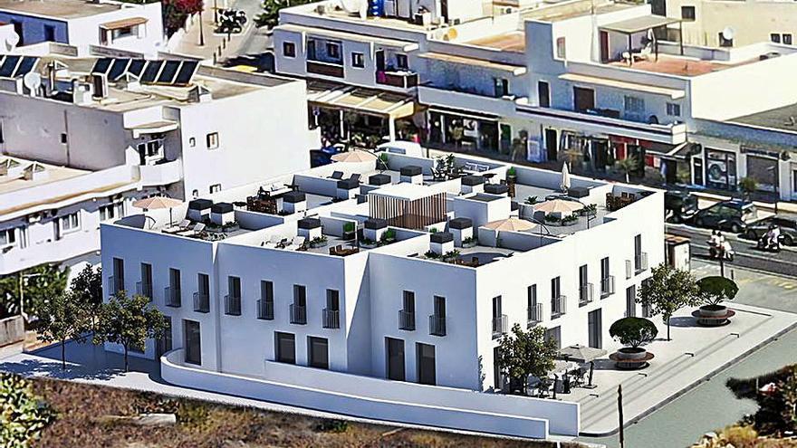 Comienza a la construcción de siete viviendas y siete locales en Sant Ferran