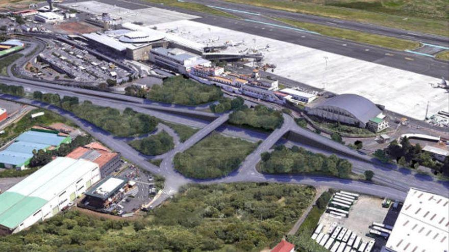 Las obras en los viales a la terminal del aeropuerto Tenerife Norte comienzan este lunes