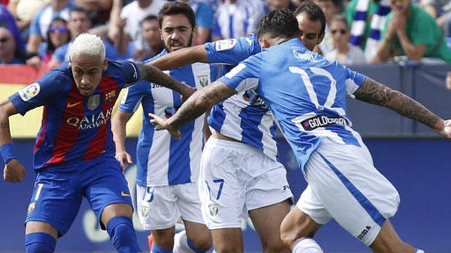 El Barça imposa la seva força i goleja el Leganés