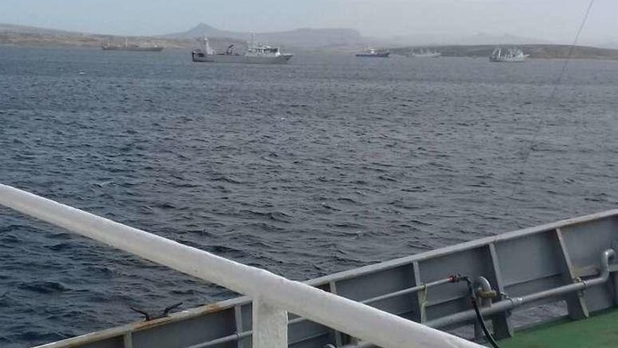 El COVID mantiene en jaque a parte de la flota gallega que faena en Malvinas