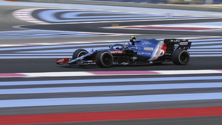 ¿Por qué hay líneas azules y rojas en el GP de Francia?