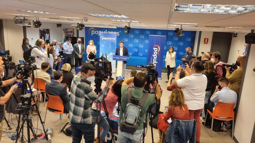 Mazón presenta su candidatura para convertirse en el presidente del PP valenciano