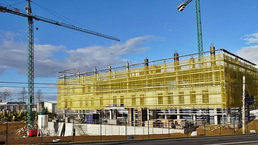 El primer edificio del proyecto 'Nexus Sabón' ya toma forma