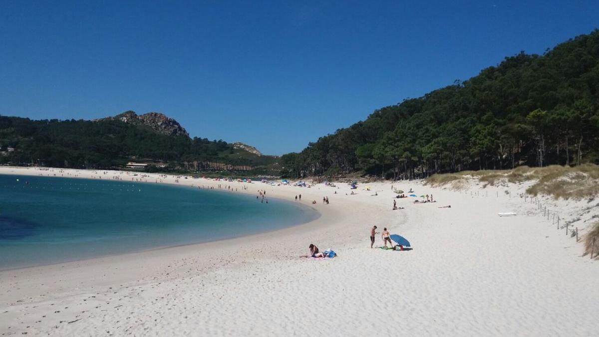 Playa de Rodas en las islas Cíes / Óscar Méndez