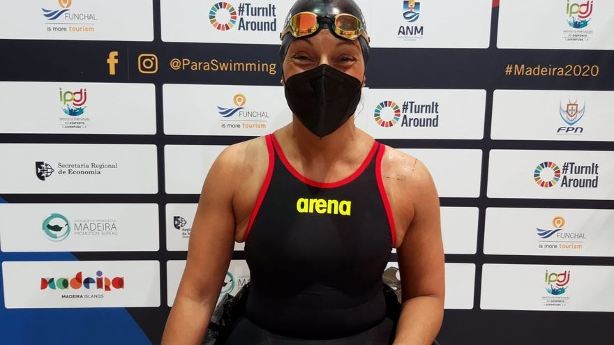 Teresa Perales consigue la plata en los 50 espalda, su medalla número 27