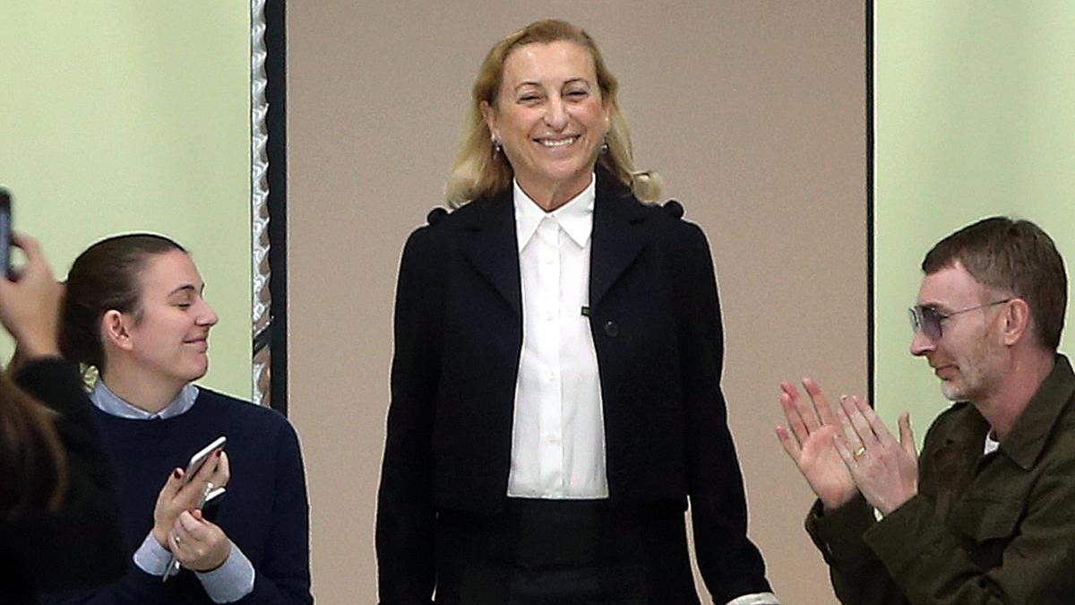 La diseñadora Miuccia Prada.