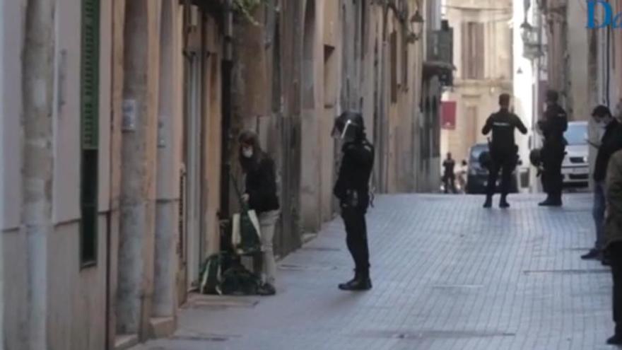 Demonstranten verhindern eine von vier Zwangsräumungen in Palma