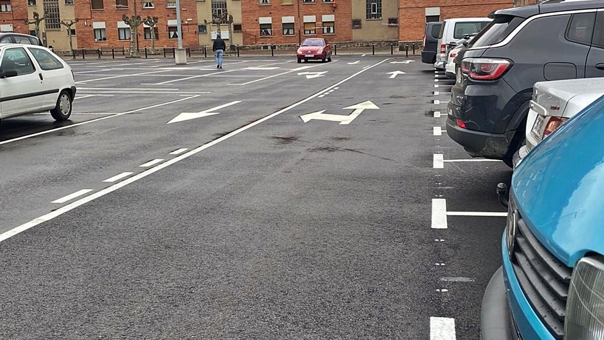La nueva zona de aparcamiento de la Mayacina