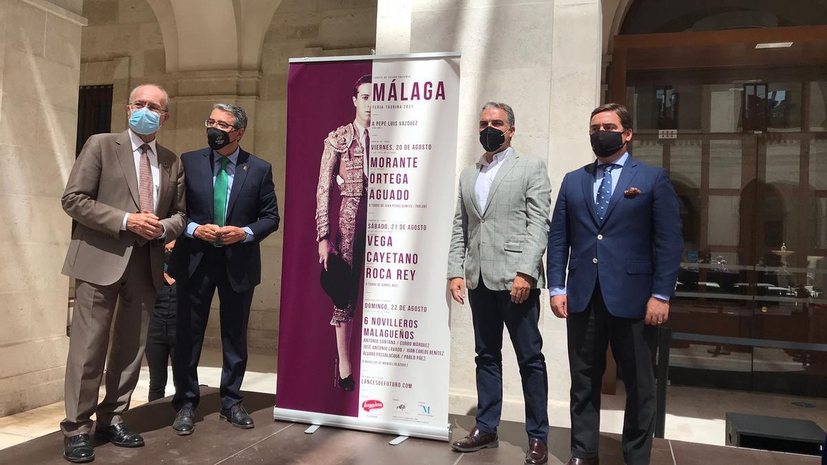 Presentación de los carteles de los toros en La Malagueta para este mes de agosto