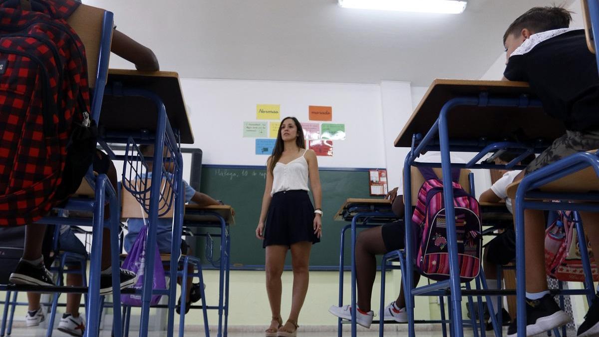 Instantánea de una clase en un colegio de la capital el pasado inicio de curso.