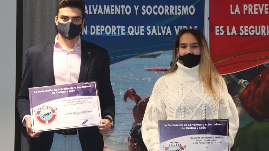 Javier Huerga y Carolina Ganado, mejores socorristas de Castilla y León