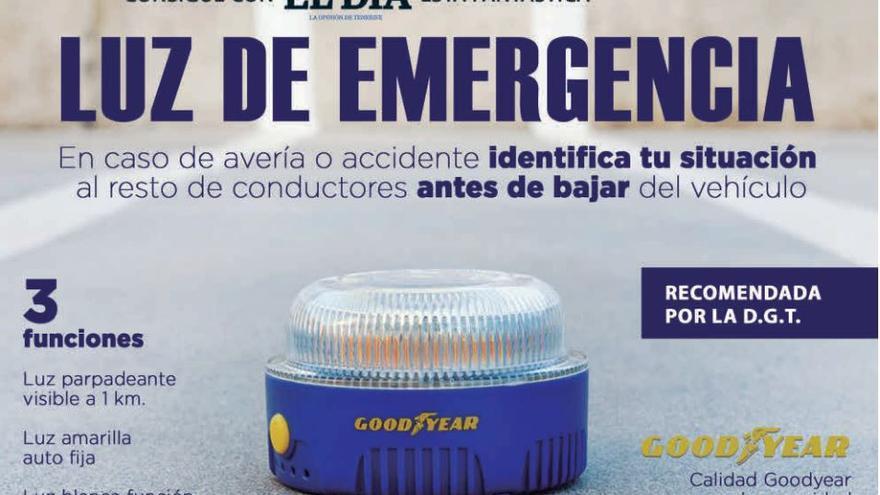 Consiga con El Día esta luz de emergencia recomendada por la Dirección General de Tráfico