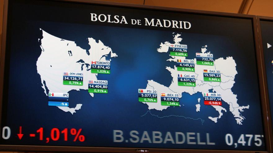 El Ibex 35 alcanza los 9.100 tras crecer un 0,34% en la apertura