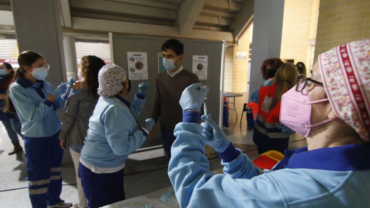 Vacunación contra el covid en Vista Alegre.