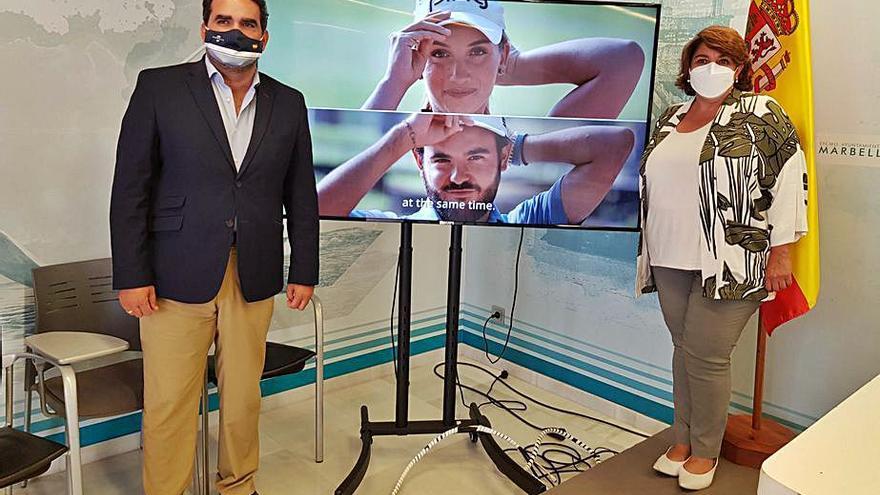 Golfistas locales, embajadores de Marbella en una feria turística