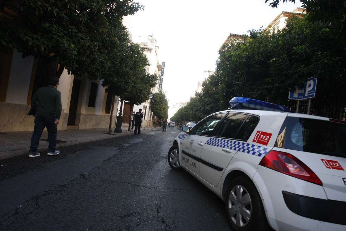 Derrumbe en la calle San Fernando