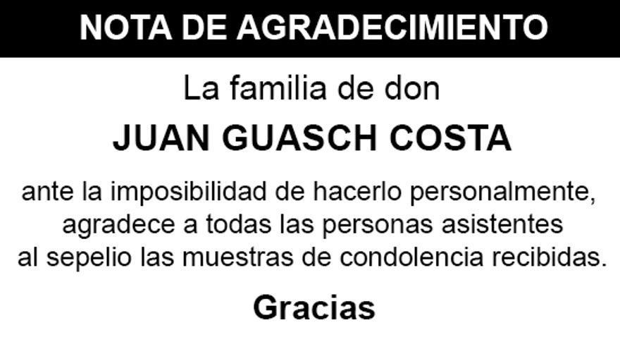 Nota Juan Guasch Costa