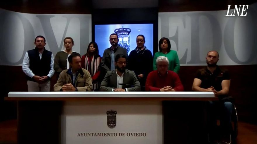 """El PP de Oviedo se planta contra """"los modos dictatoriales"""" y el """"fascismo"""" del tripartito"""