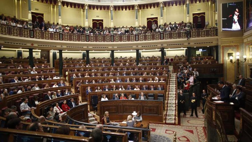 Vista del Congreso de los Diputados.