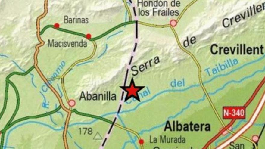 La Murada registra un pequeño terremoto de 2 grados que se siente en Hondón de los Frailes