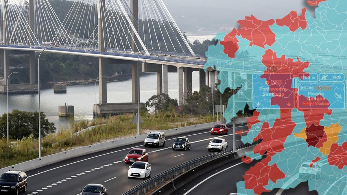 Las restricciones une el sur y el norte de Galicia