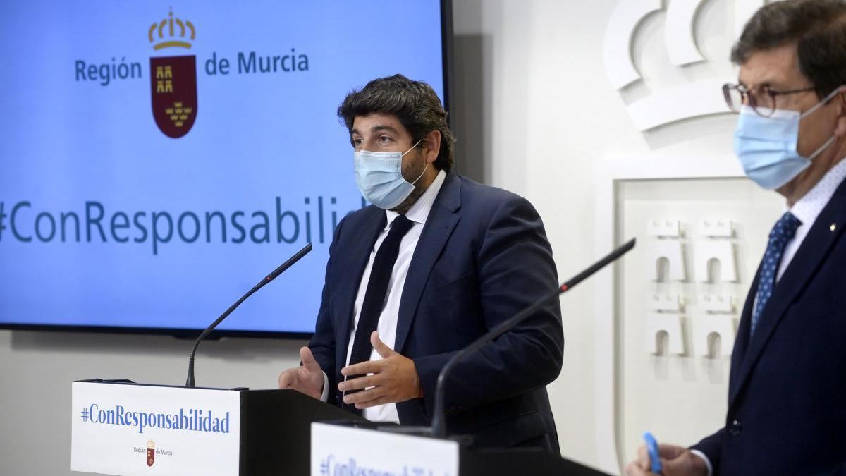 López Miras da por controlado el brote en Lorca y descarta la fase 1 en Murcia