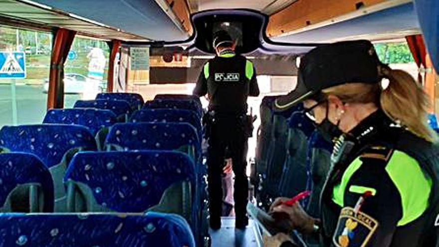 Los controles sobre el transporte escolar se intensifican en Sagunt