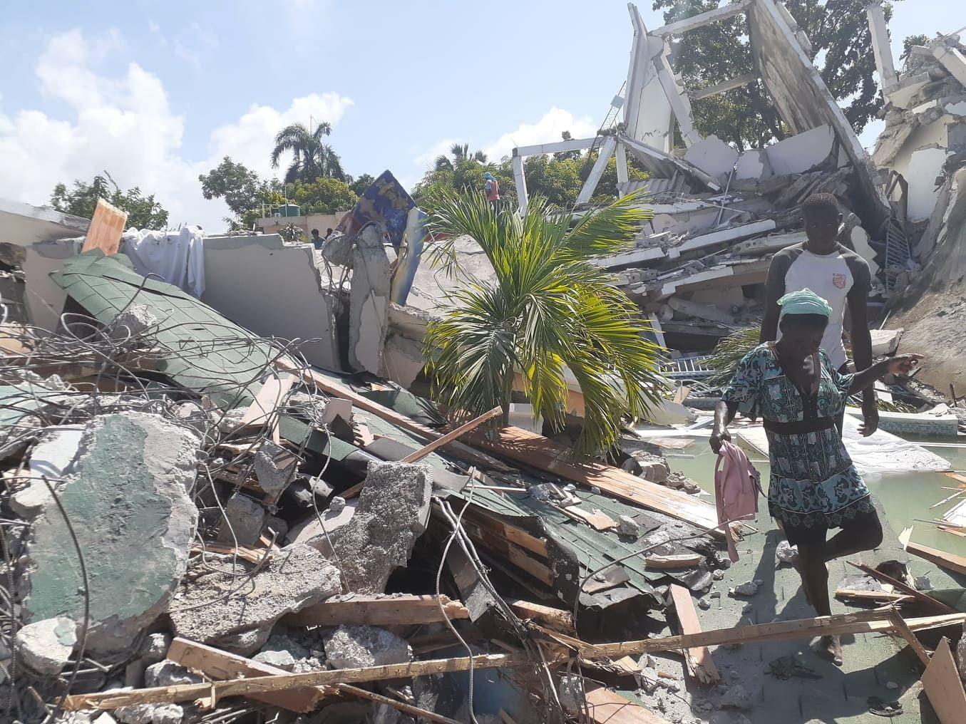 El día después del terremoto en Haití