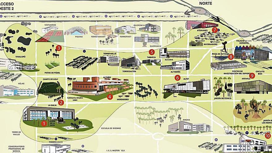 La Universidad lanza una web de visitas guiadas a sus cuatro campus en la provincia