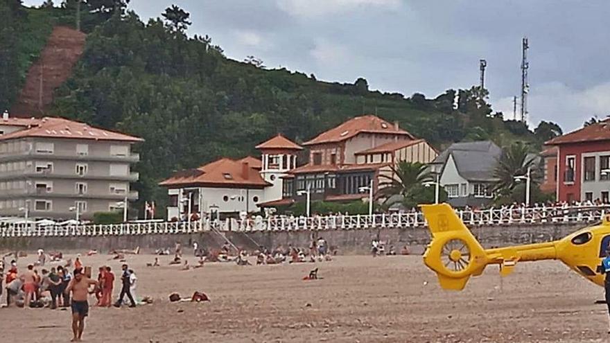 Muere un hombre tras un agónico rescate en una playa de Asturias