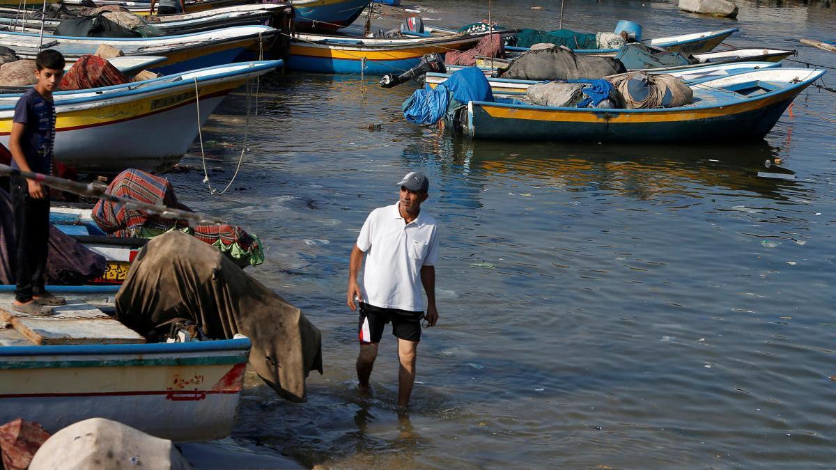 Pescadores, en Gaza