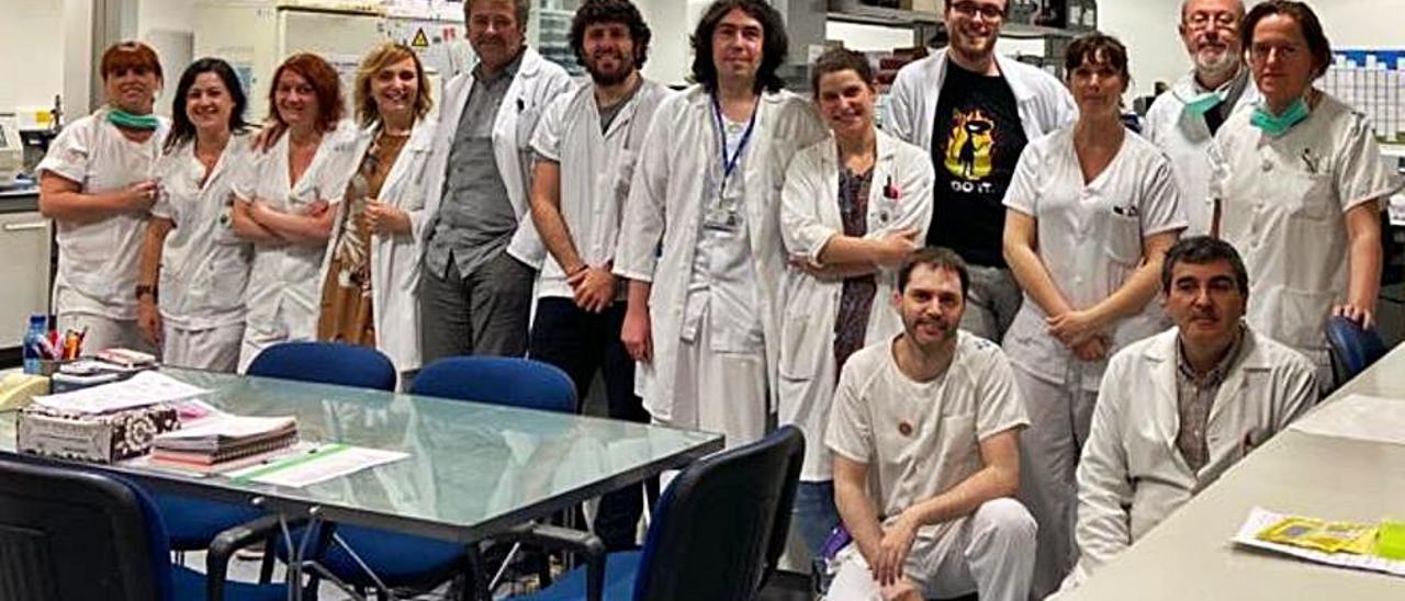 Parte del equipo del laboratorio de Virología del HUCA. | LNE