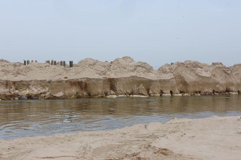 Desperfectos del temporal en las playas del Perellonet y El Saler.