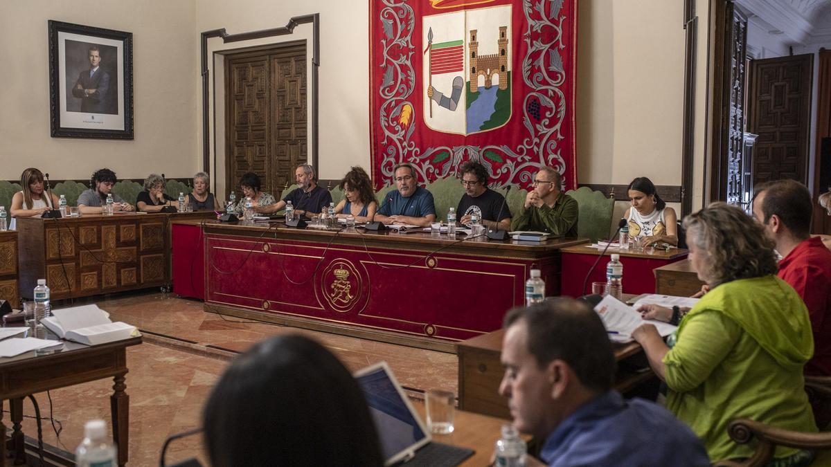 Un pleno del Ayuntamiento de Zamora.