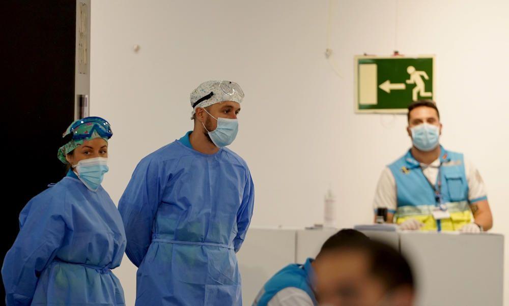 Pruebas PCR en zonas confinadas de Madrid