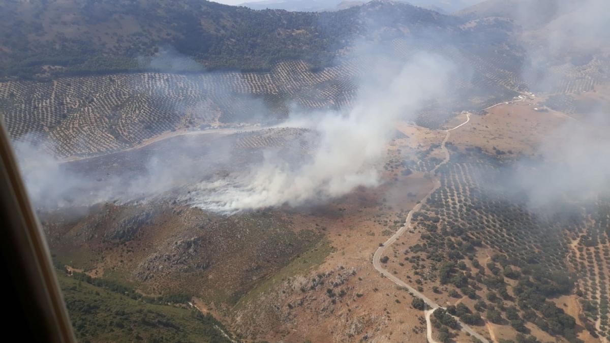 Estabilizado el incendio forestal declarado en Rute