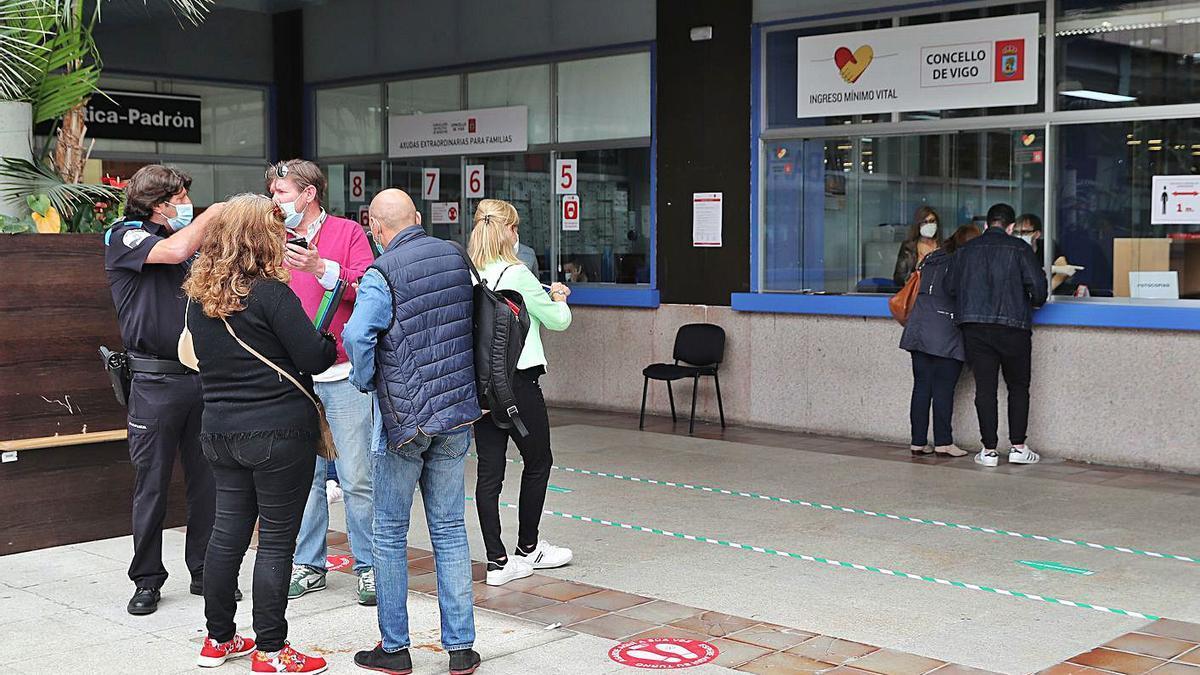 Ventanilla habilitada en el Concello de Vigo para solicitar el Ingreso Mínimo Vital.
