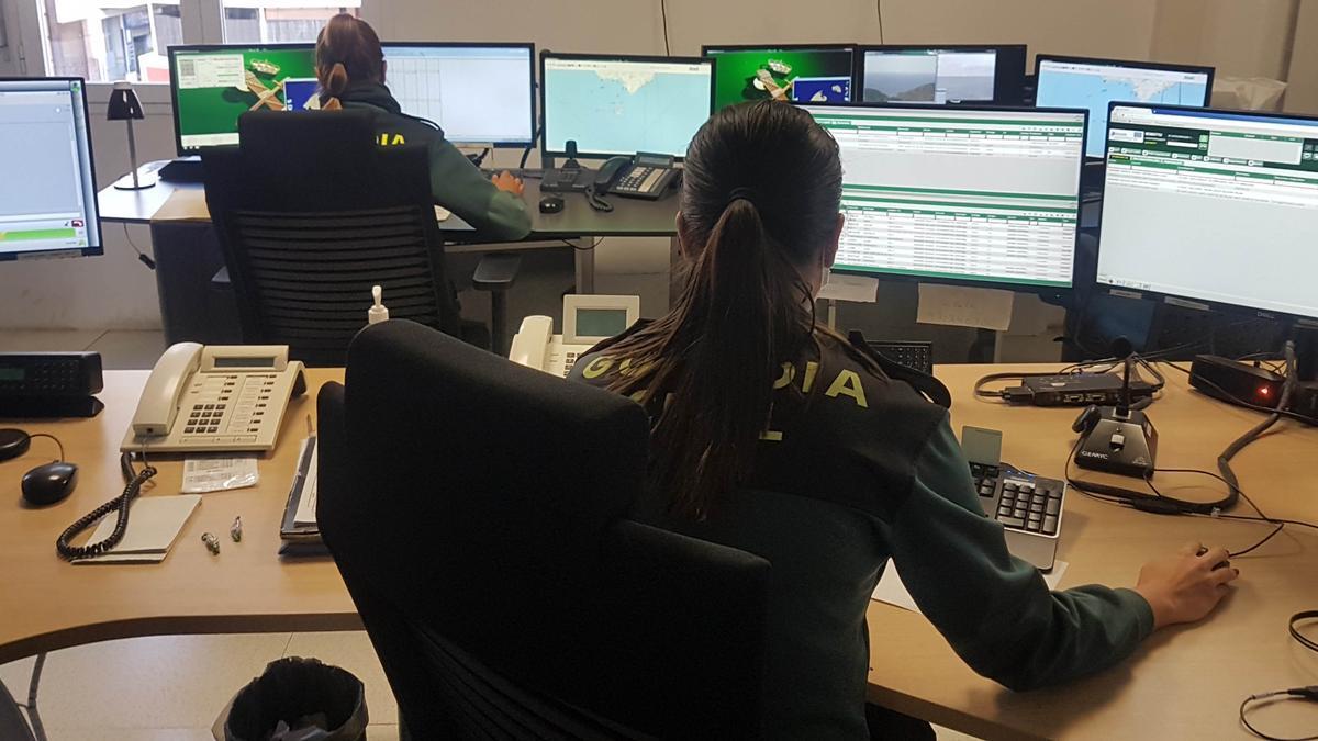 El centro de llamadas de la Guardia Civil.
